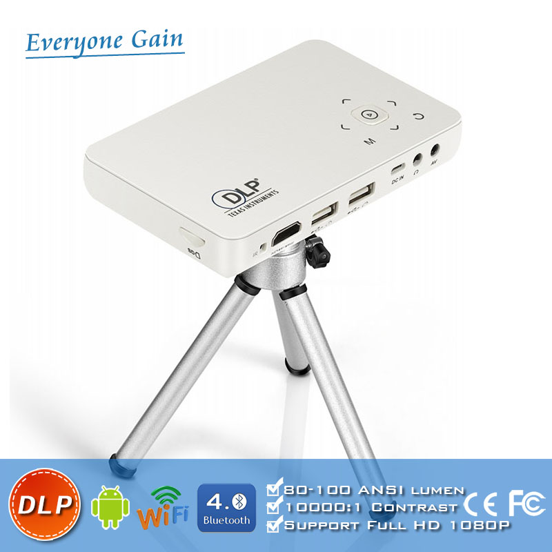 DH-<strong>A10</strong> Good Quality Smart Android Wifi mini led Micro projector Portable LED Video Projector For Sale