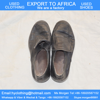 factory directly supply high quality tidy men's second hand shoes leather used shoes export for Africa