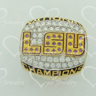 NCAA custom made championship rings LSU SEC champions ring jewelry