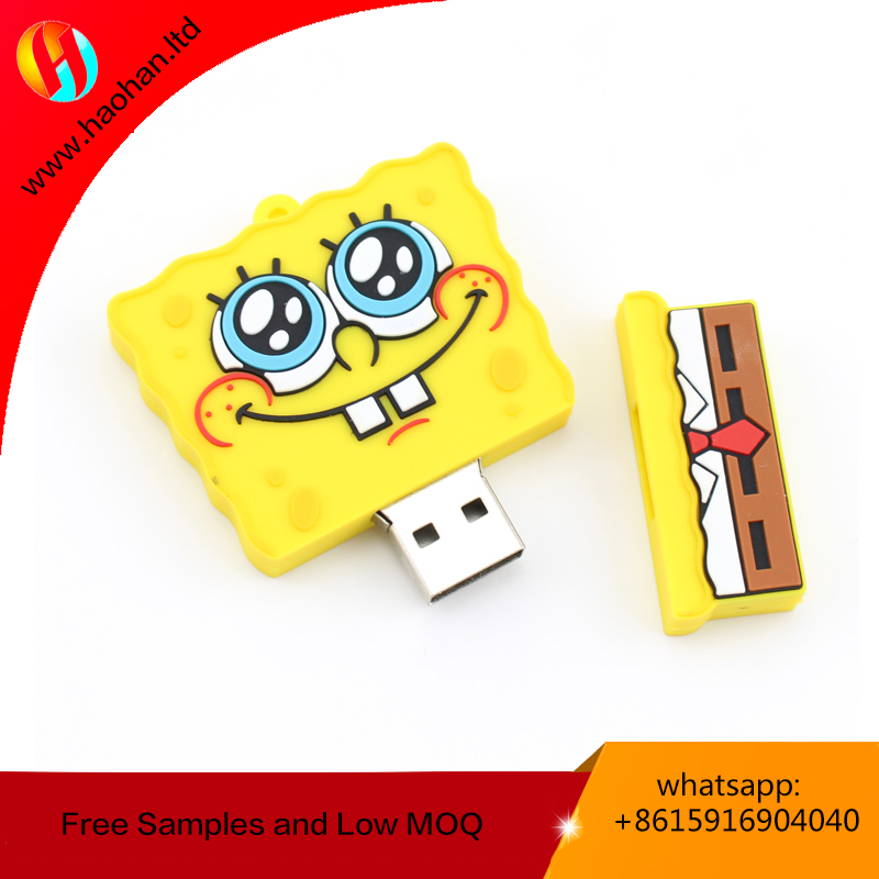 China manufacturer PVC custom usb flash drive/memory stick with custom logo