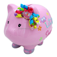 Promotion gift animal shape large 17*13.8*14 bank ceramic pig money box