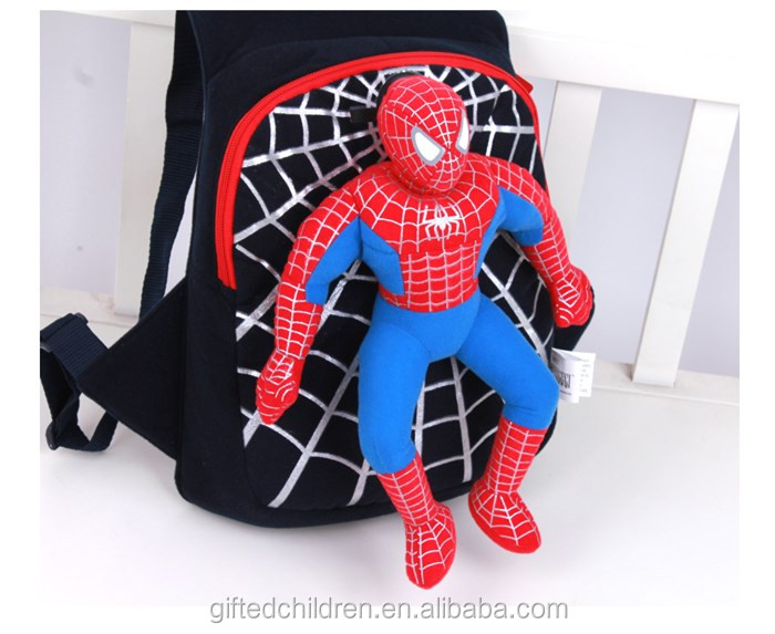 Super Cool Kids/Kindergarden Backpack School Bag With 3D Spiderman
