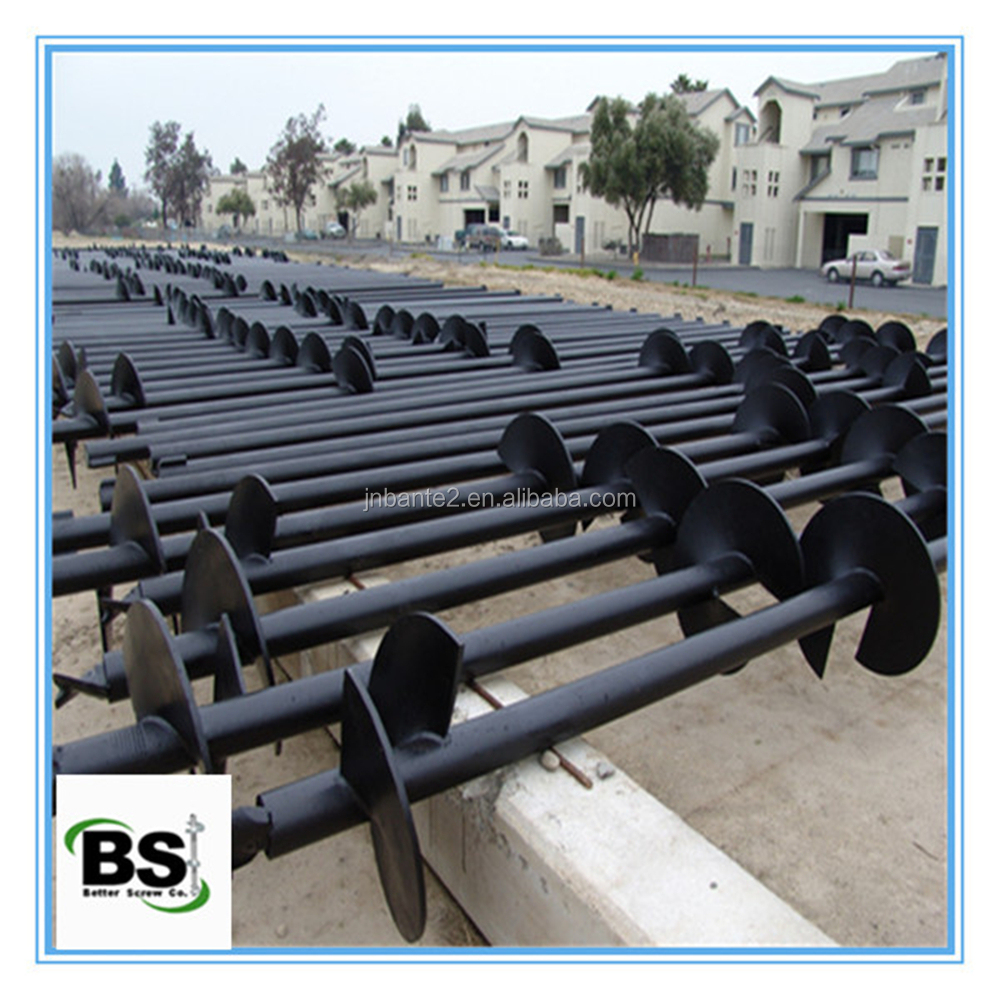 Round Shaft Helical Ground Anchor Pile for Aluminum Solar Mounting System