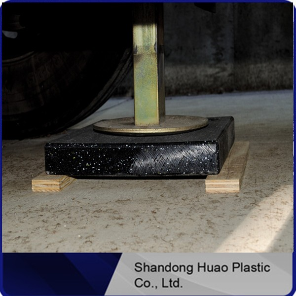 OEM UHMWPEboard outriggerplastic pad /Solid Plastic Blocks/Black and colored UHMWPE Crane outrigger pad with thoughtful service