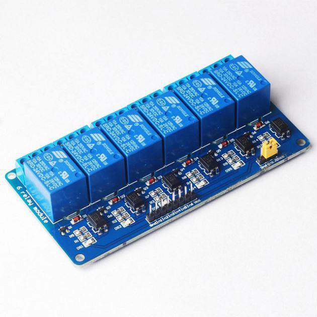 5V 6 Channel Relay Module 6-way relay module with light coupling for PIC ARM DSP AVR Raspberry Pi