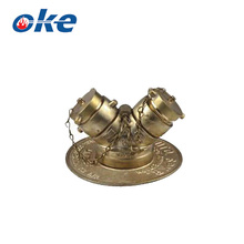 Okefire 2 Way Brass Water Diverter Valve With End Cap