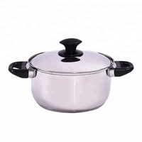 SKU Induction 20cm double bakelite handle casserole stainless steel 002D