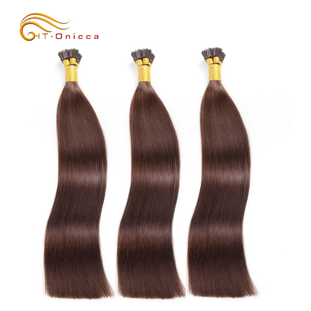 Straight wave I TIP Protein Blue Braiding Hair Long Hair Goat Fur 16 18 20 Inch Straight Human Hair Weave
