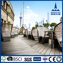 Durable recycled wood plastic composite decking, waterproof wpc flooring, outdoor wpc decking