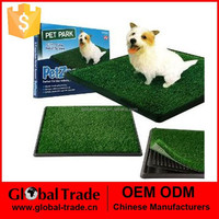 H0157 Indoor Pet Toilet Dog Grass Restroom Potty Training with Tray and Loo Pad