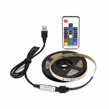 5050 RGB TV Background Light 60LEDs/m 3 Volt led strip with 17Key RF Controller