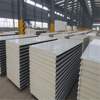 Wall polyurethane sandwich panel installation