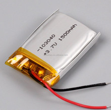 Rechargeable Li-polymer Battery LP 103040 1500mAh 3.7V Lipo Battery