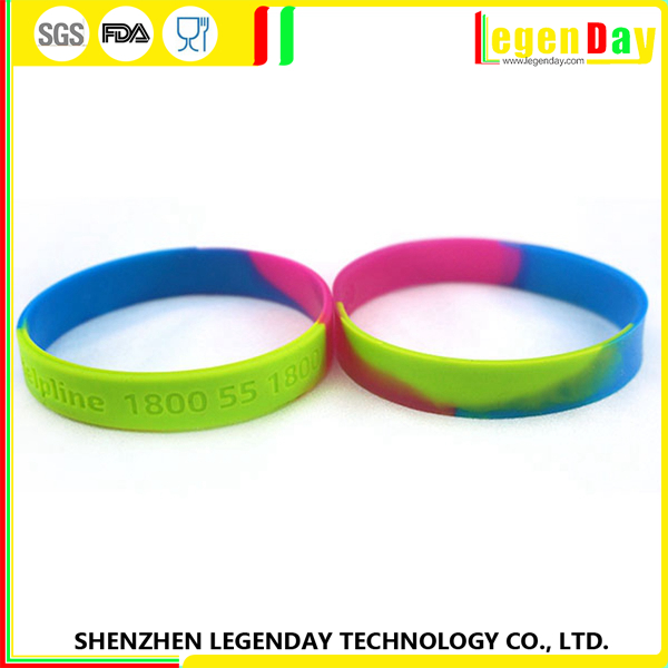 New Arrival silicone braided rubber bracelets
