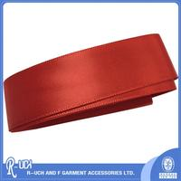 OEM design printed grosgrain ribbon, polyester webbing, thin red ribbon