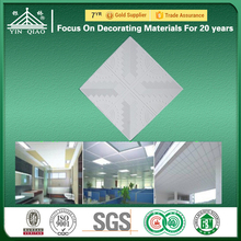 Decoration Materials Rectangle Perforated Prices Gypsum False Ceiling
