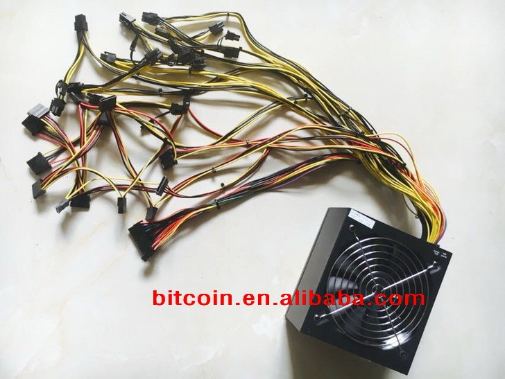 ETH Ethereum Zcash miner 1600W 80PLUS Gold ATX motherboard desktop computer High-power power supply 6 graphics card PSU
