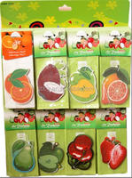2015 cheapest fruits series paper air fresher /freshener/freshner