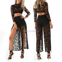 Fashion Sexy Two Piece Black Lace dresses for women