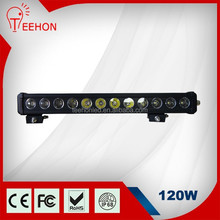 "new products 120w 22"" one row green color off road led light bar for car trucks atv suv"