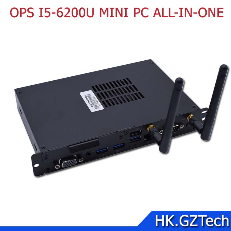 Intel OPS I5-6200U I7-6500Umini pc for embedded all in one touch srceen computer with 4G 500G WIFI slim thin client unit