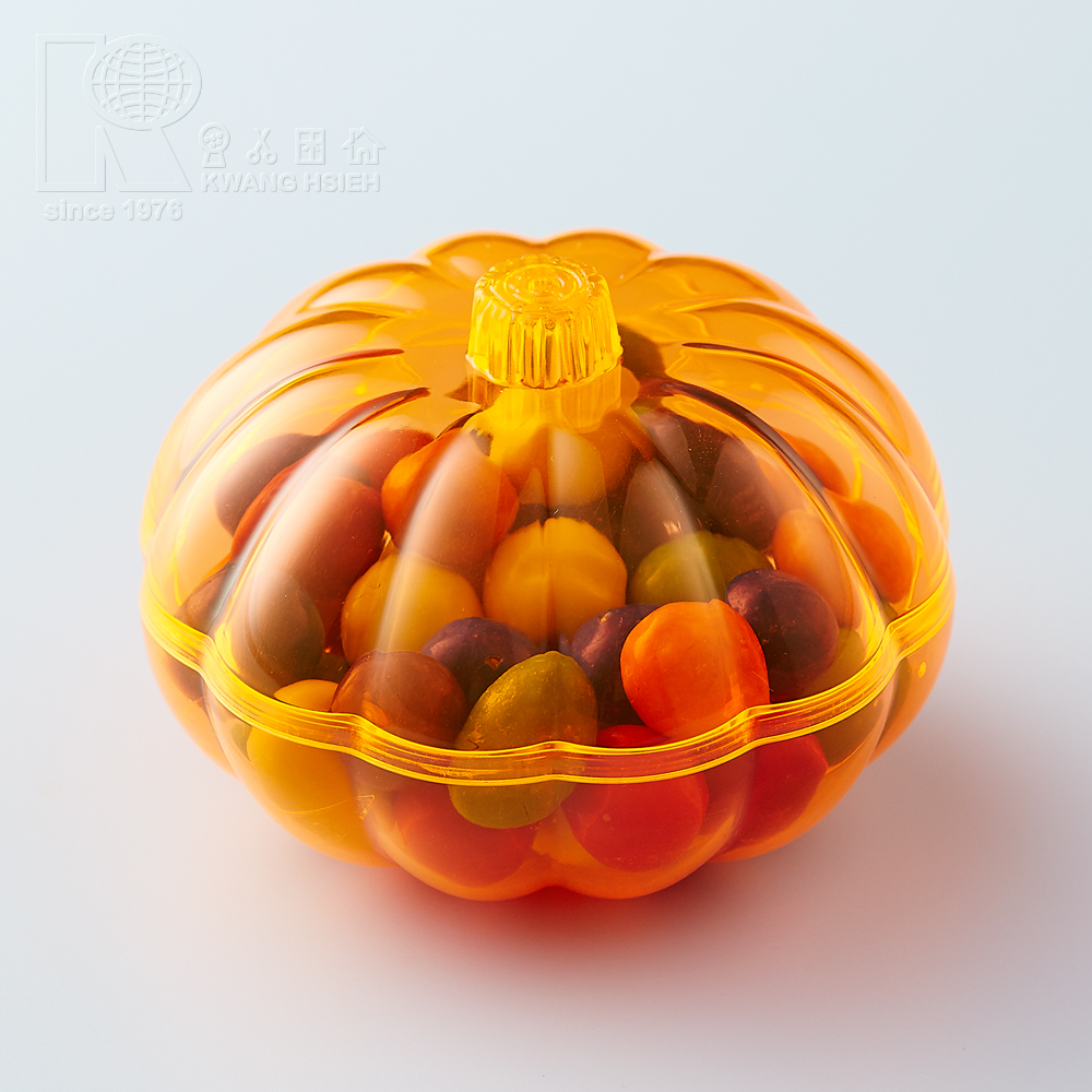 Kwang Hsieh Pumpkin Shaped Food Container Candy Plastic Gift Box