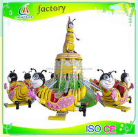 Cute lovely cartoon design self- control bee kids and parents amusement ride