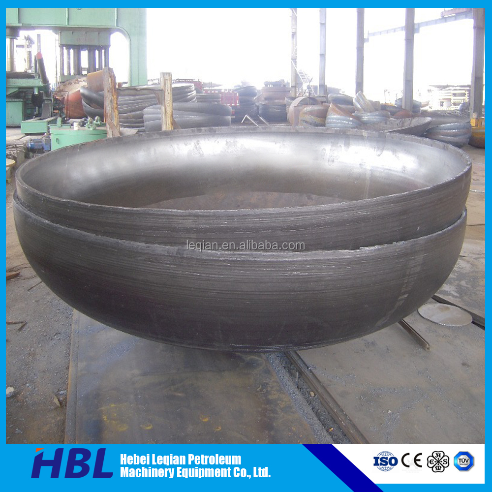 carbon steel polishing elliptical head dished ends for storage tank