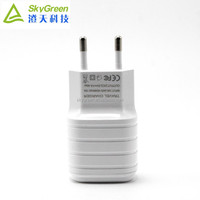 EU Plug Wall White Charger Adapter Port USB 2.1A 100-240V for iPhone iPad Galaxy, usb travel charger with charging cable