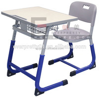 Modern Design Classroom Adjustable Single Student Desk Chair Seat