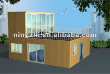 modern low cost color steel prefab house/ prefabricated homes/Prefab Duplex Homes