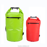 5L&10L&15L&20L PVC Tarpaulin Waterproof Dry Bag Double Strap Dry Back Pack Outdoor Backpack