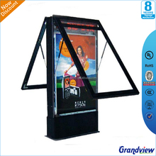 Double side galvanized outdoor led rolling electronic advertising board
