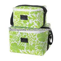 Fashion 600d polyester lunch cooler bag for shopping and promotiom
