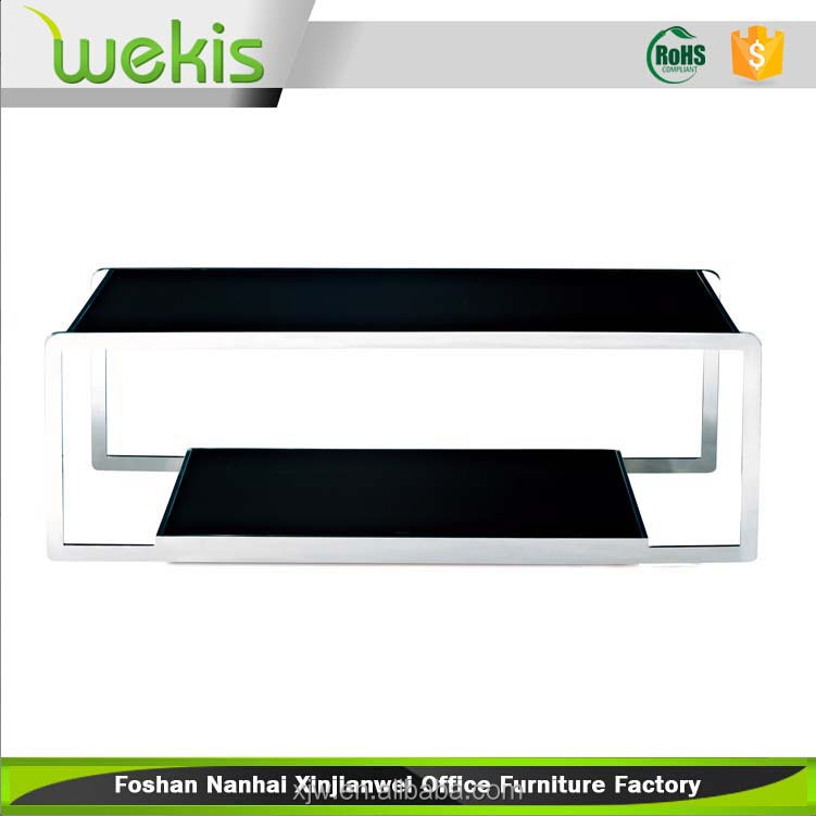 Alibaba Modern Steel Frame and Melamine Top Coffee Tea Table