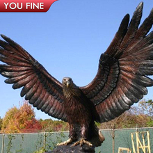Outdoor Metal Craft Large Bronze Eagle Sculpture for Sale