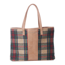 Personalized Adorable Monogrammed Plaid Tartan Tote Bag