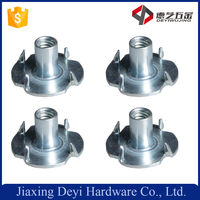 High Quality 1/4 Carbon Steel White Zinc Plated Four Prongs Claw Nut