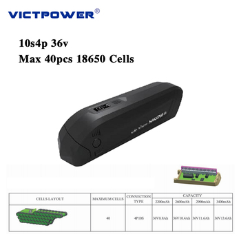 victpower Downtube Lithium ion battery 36v 14ah 10s4p 500wh battery pack