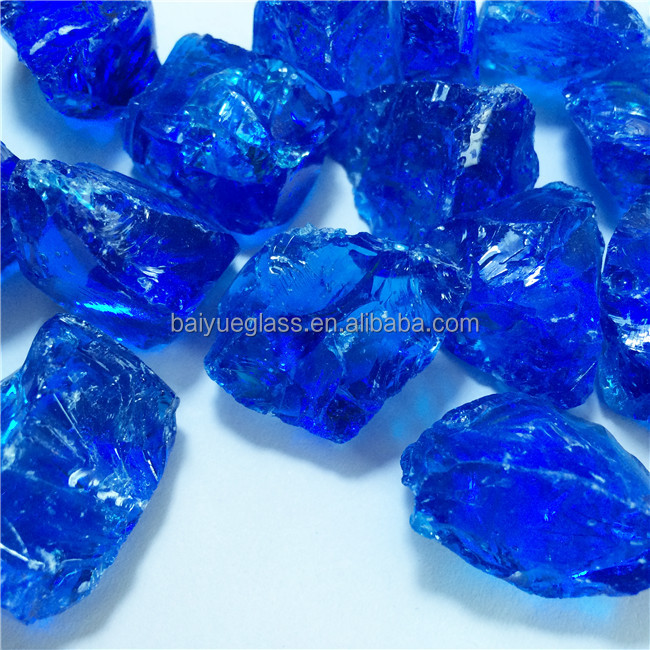 Hot sale recycled fire crushed glass chips for crafts