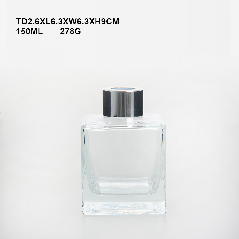 Hotsale 150ml Square Perfume Use and Glass Material perfume glass bottle