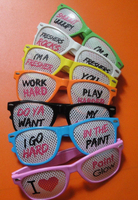 Fashionable crazy funny custom printing novelty pinhole party glasses for festival and event