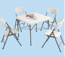 Plastic folding square table for fair show, for market, for hire and DIY Used