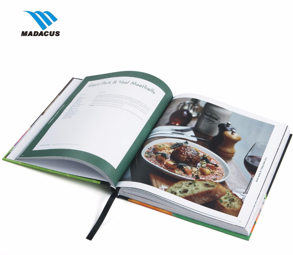 wholesaler Ningbo custom printing hardcover culinary art book and magazines