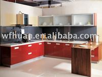 2014 High glossy pvc thermofoil Kitchen Furniture