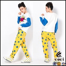 CCL131 Unisex Star Printed Women Sports Fabric Trousers