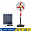 High quality 12v 16'' emergency rechargeable stand fan with battery