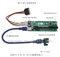 30CM 60CM Mini PCI-E to USB 3.0 Cable pci USB Riser Card Molex Power for bitcoin