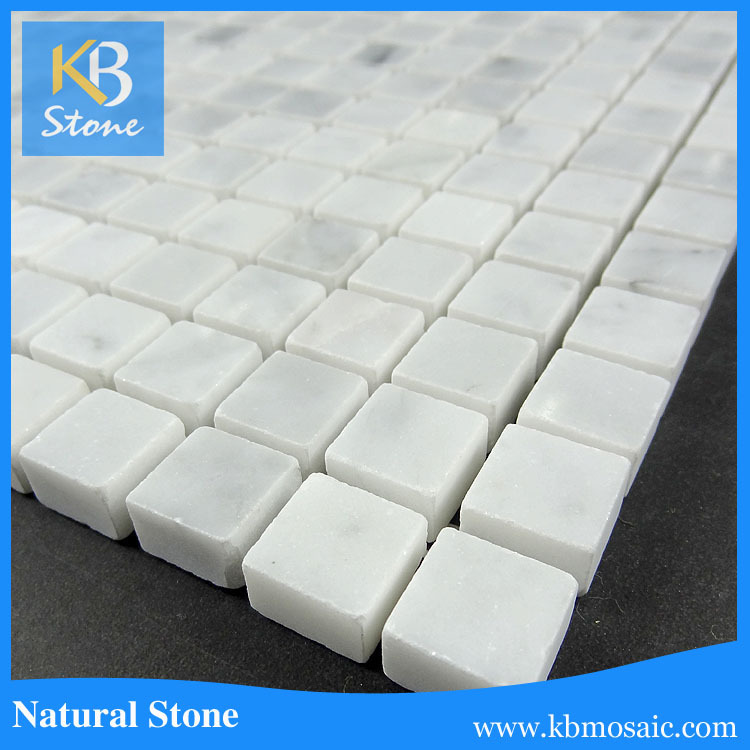 "Carrara White Marble Mosaic 12""<strong>X12</strong>""X3/8"" Polished"