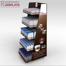 POS factory price rotating coffee pod holder coffee mug tea set display stand